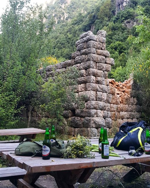 Cheers 🍻 the hikers rest almaza  beer  cheers  jungle  wild  adventure ...