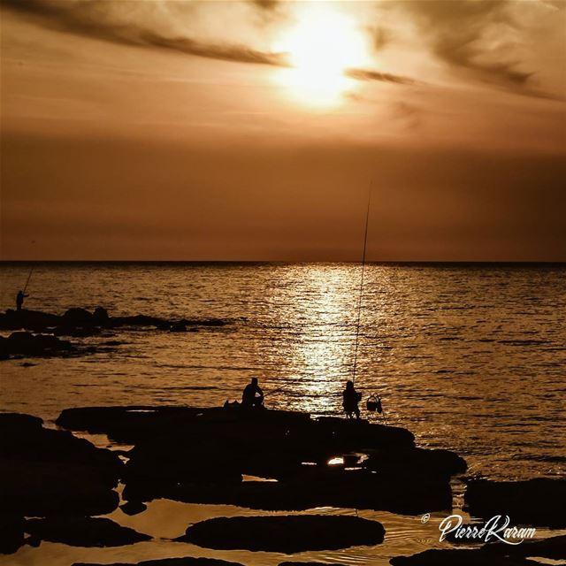 fishermen on sunset lebanon byblos jbeil ... lebanesephotographer ...