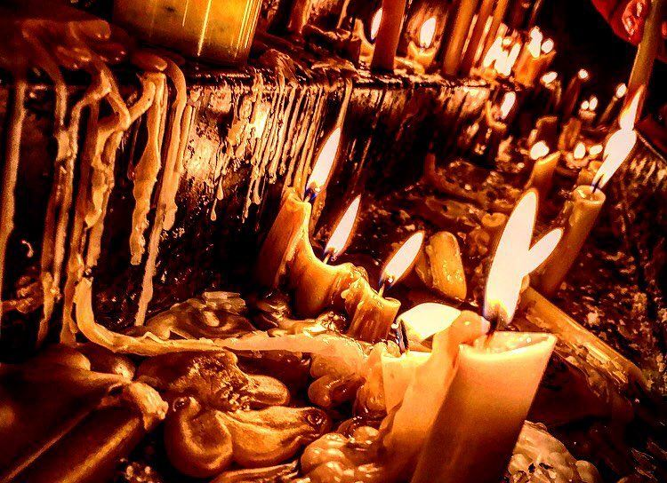 To light a candle is to cast a... (Mar Charbel Anaya , Deir Mar Maroun)