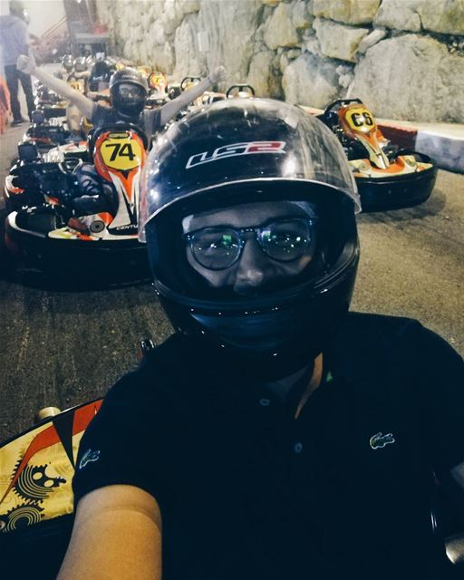 Selfie Racing Friends Happiness Madness Fun enjoy adrenaline ... (RPM Karting Lebanon)
