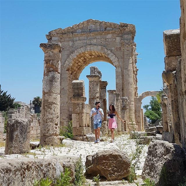 Never Stop Discovering @livelovetours @livelove.tyre 🏛 livelovebeirut ... (Roman ruins in Tyre)