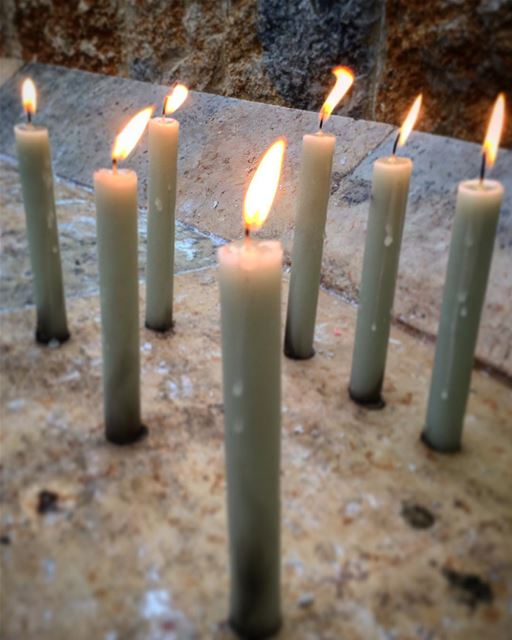 I lighted 7 candles at Our Lady of Lebanon, Harrissa for 7 special people... (Harîssa, Mont-Liban, Lebanon)