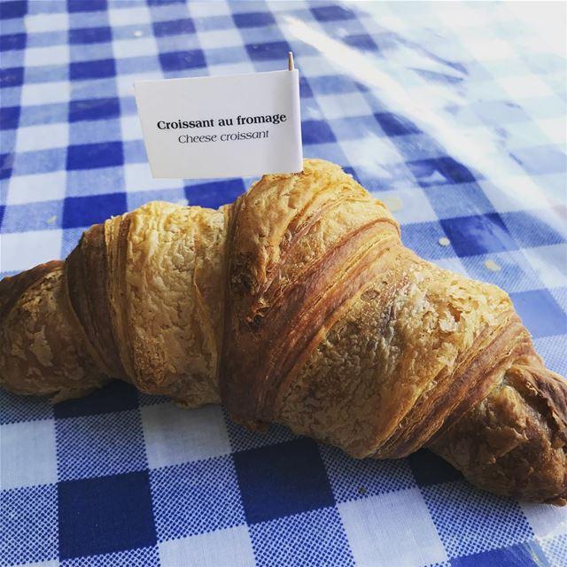 Croissant du dimanche 🥐😋 livelovefood livelovebeirut beirut zahle ... (Jesuit Convent Deyr Taanayel - دير سيدة التعزية للآباء اليسوعيين)