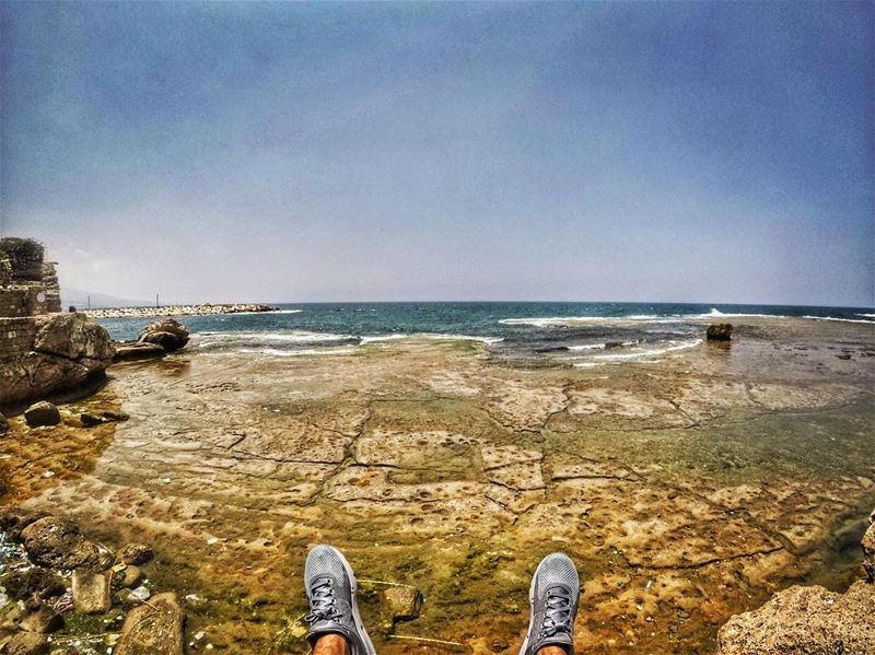 Mediterranean sea 😜🌍..... Lebanon beirut livelovelebanon ... (Jbeil جبيل)