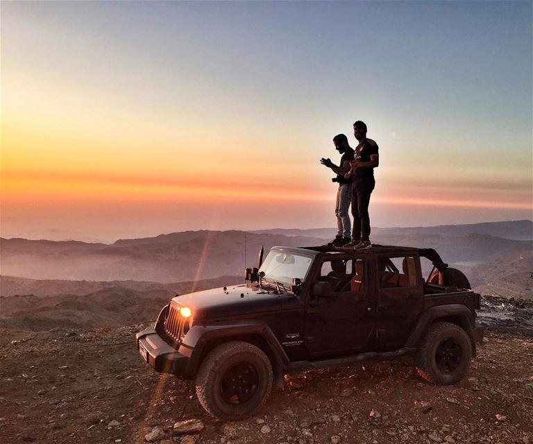 Chasing Sunsets 🌅📷@haigmelikian Livelovebeirut sunset Lebanese ... (Mzaar 2400m)