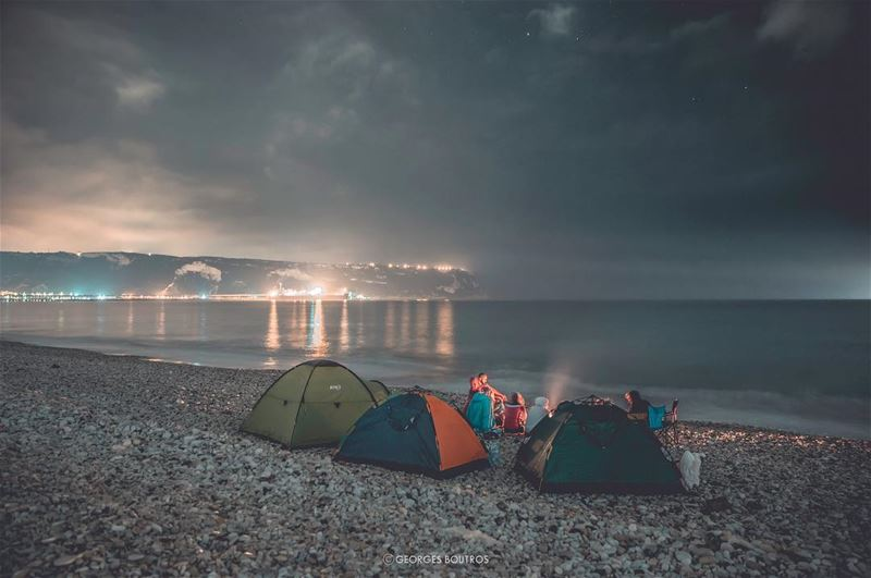 How about a beach ⛺️ for a change ? 😏.. landscape nightphotography ... (Chekka)