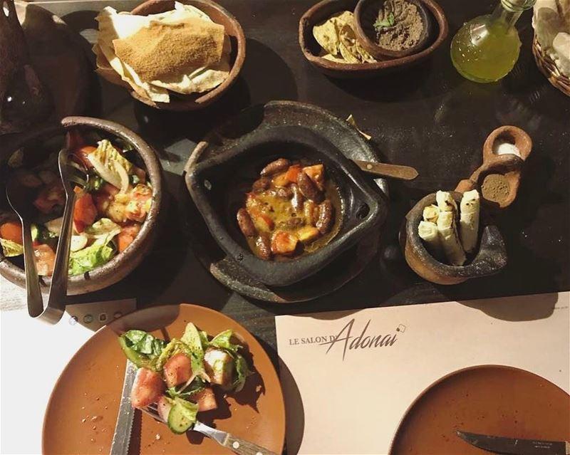 """The traditional """"traditional lebanese food"""" 🥖🍽 🇱🇧- accomp ......... (Adonai - Le Petit Libanais)"""