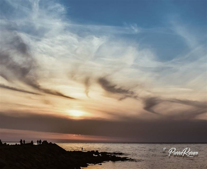 god painting a sunset. lebanon byblos jbeil ......