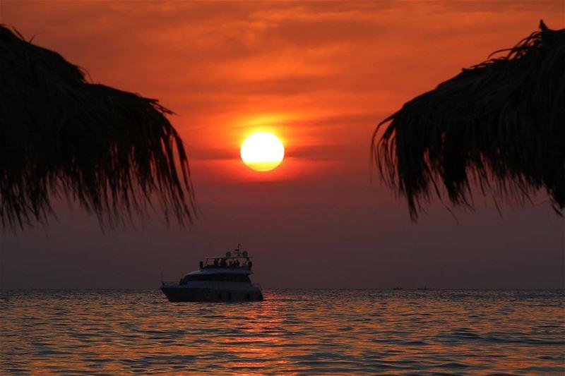 🌅.... sunset sunsetlovers sunsetpics landscape landscapephotography... (Beirut, Lebanon)