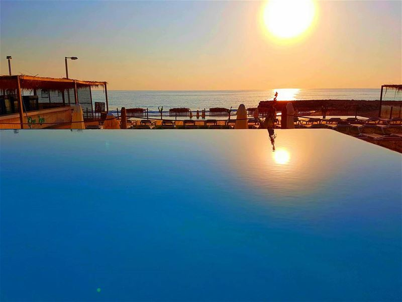 Sunset-ing sunset summer damour lebanon mylebanon beach ... (Damour Beach Resort)