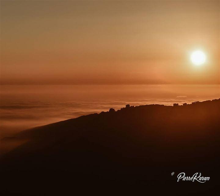 over the clouds sunset.. lebanesephotographer lebanese instago ...