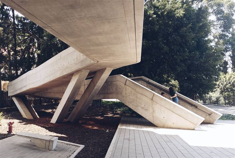 "'The ramp/stair combination"" zahahadid zahahadidarchitects ... (Issam Fares Institute - AUB)"