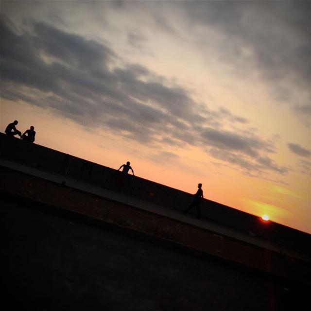 Sunset Silouhette @imjustpassing LiveLoveLebanon wearelebanon ... (Waterfront City)