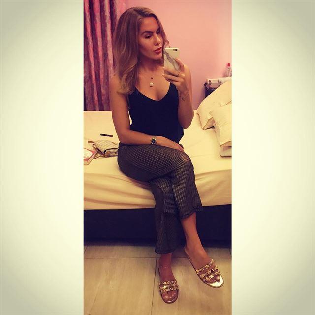 Black & Gold 🖤💛 ootd sportsgirl zara culottes casualchic ... (Beirut, Lebanon)