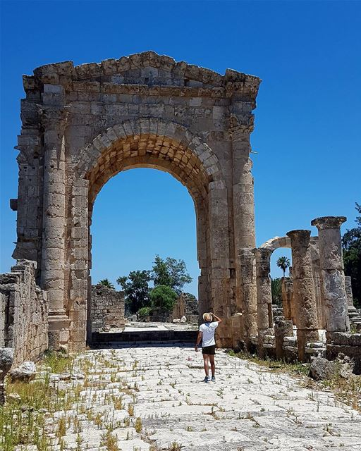 All experience is an arch, to build upon.🏛 livelovebeirut ... (Roman ruins in Tyre)