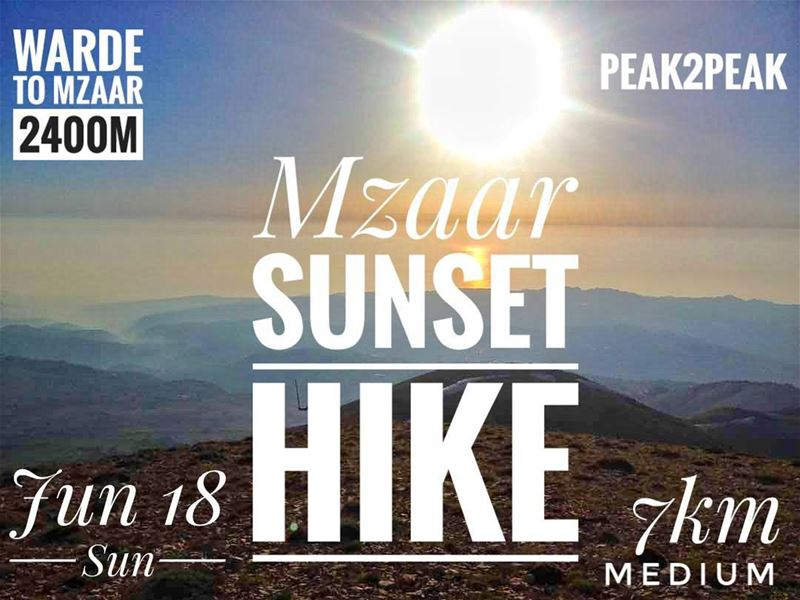 Meet us this sunday.🌎🗻SUNSET HIKE 2400m 🌅🌄• this event is free of... (Lebanon)