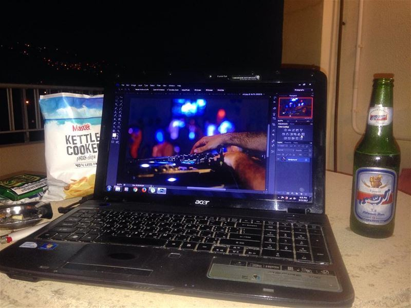 let's edit! 🍻  edit  photoshop  beer  chips  lebanon  outdoor ...