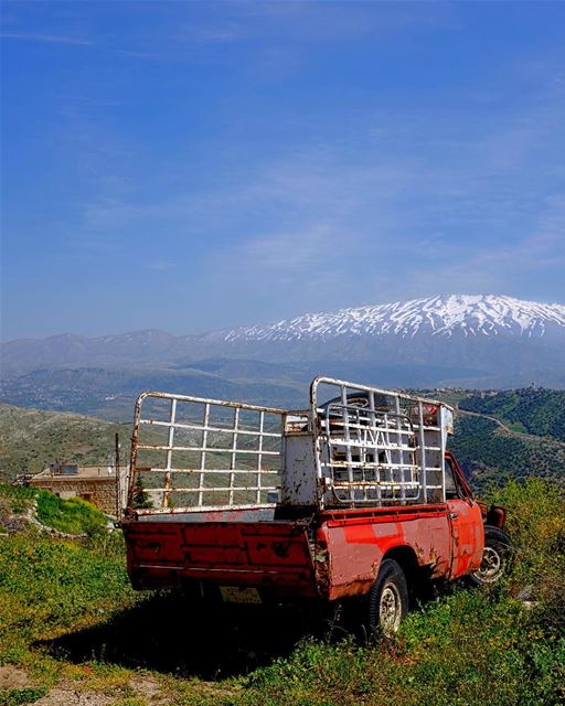 Next Stop, Nowhere. The Lebanese countryside is awash in reminders of the... (Majdal Balhis, Béqaa, Lebanon)