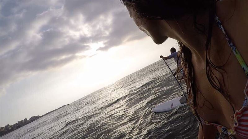 Quality time with my beautiful Bae 😍.. dream  sup  surf  g gopro ... (Surf Shack Lebanon)