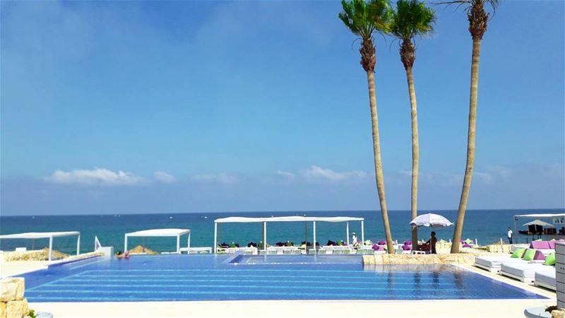 Sunbathing 😎🌞 Snapshot••• Bamboobay Lebanon Jiyeh Beach ... (Bamboo Bay)