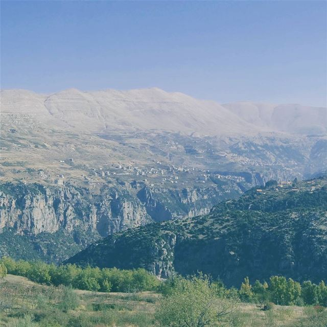 View worth getting out of the car for throwback lebanon livelovebeirut ... (Bcharré, Liban-Nord, Lebanon)