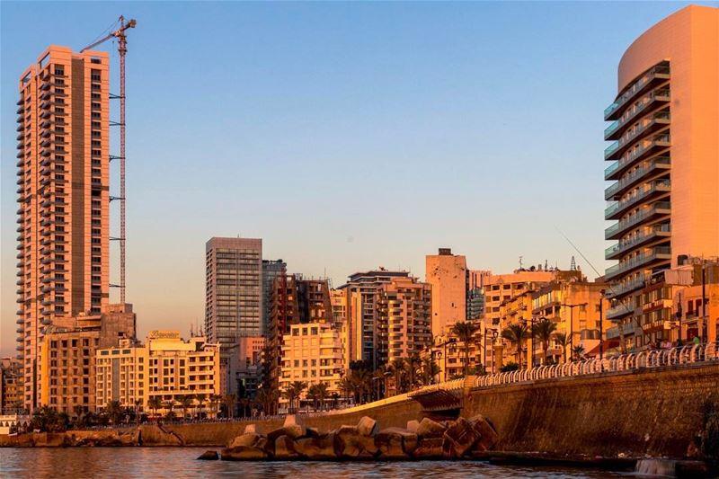 Beirut cityscape lebanon nature landscape lebanon_hdr lebanonspotlights... (Ain El Mreisse, Beyrouth, Lebanon)