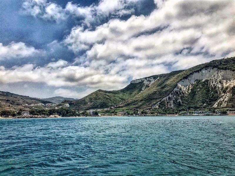 sea clouds boat chekka sky green lebanon🇱🇧 instapic instalike ... (Chekka)