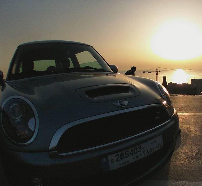 mininorthlebanon sunset sun sea meditareniansea lebanon jounieh ... (Jounieh Libanon)