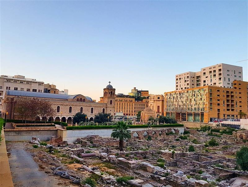 Blessed monday to all❤❤❤ downtownbeirut ruins historicalplace church ... (Downtown Beirut)