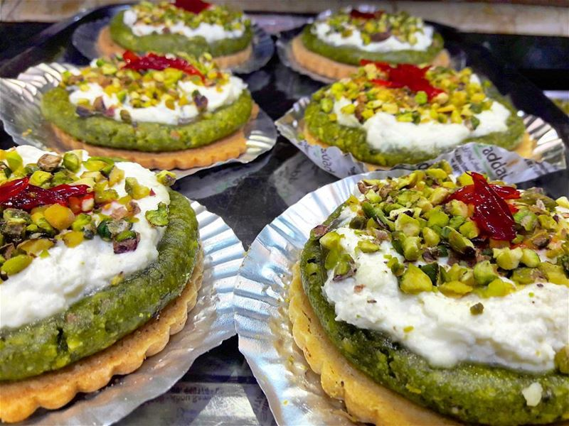 Tarte pistashio-mafrouké, a great combination to taste by Haddad sweets/Abo (Patisserie & Sweet Haddad)