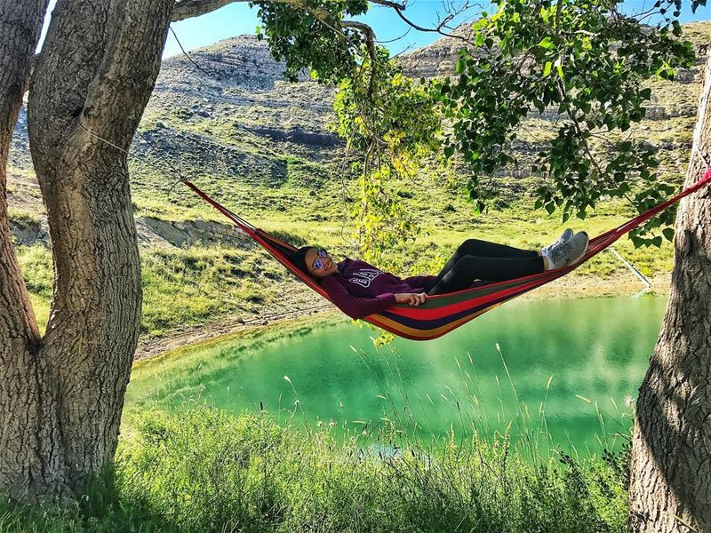 hammock chill 🍀🏕 livelovenature livelovelife livelovelebanon nature... (El Laklouk, Mont-Liban, Lebanon)