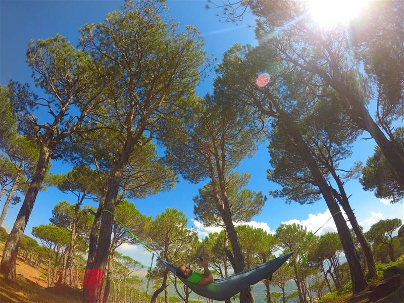 Happiness is a hammock. hammock gopro goprohero5 mothernature nature... (Baskinta, Lebanon)