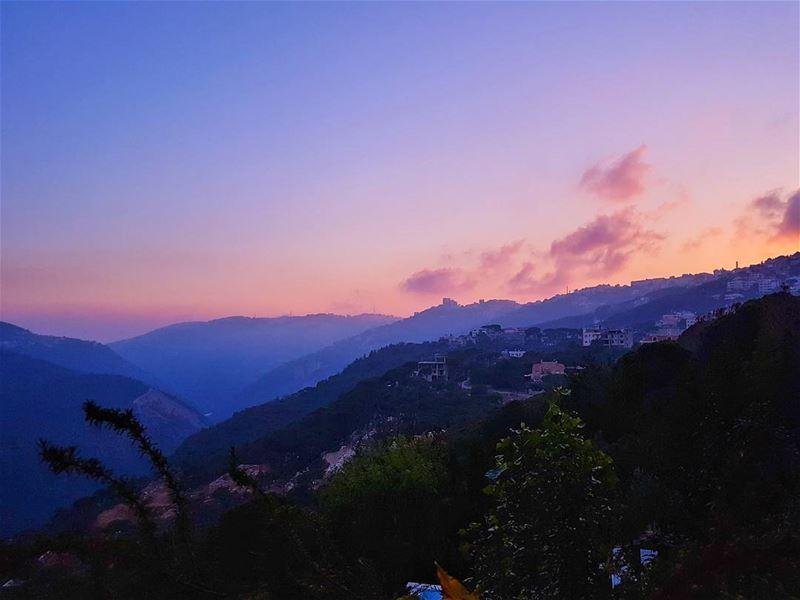 Sunset colors over Brummana valley sunset sunset_madness sunset_hub ...
