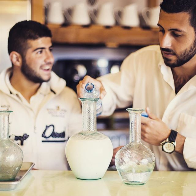 A glass of arak in Tawlet Ammiq. Summer is here. summertime ...