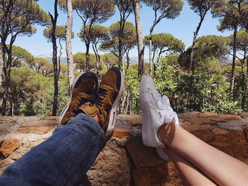 It's not where you go, it's who you travel with.. HappyFirstAnniversary ... (La Maison de la Forêt)