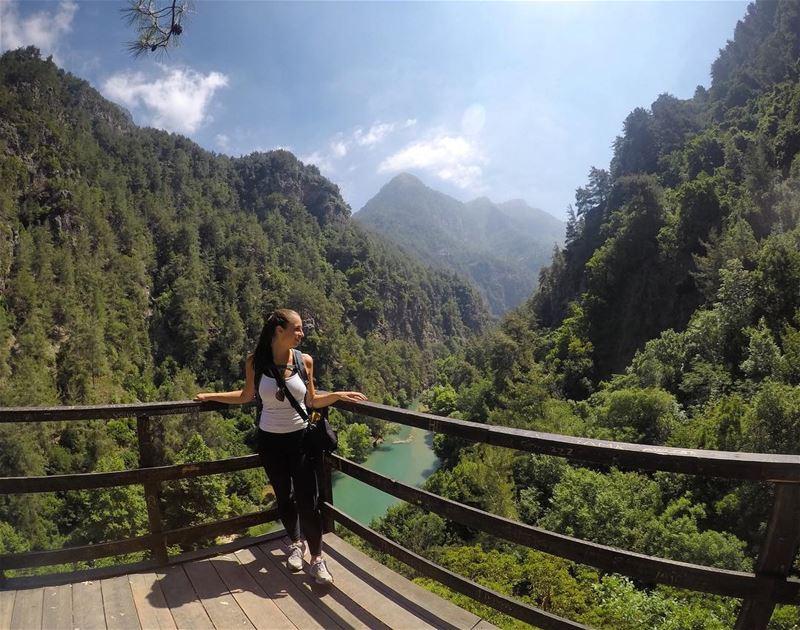 What a vieeew 😍🍃 hikingadventures inlooove ... (Jabal Moûssi)