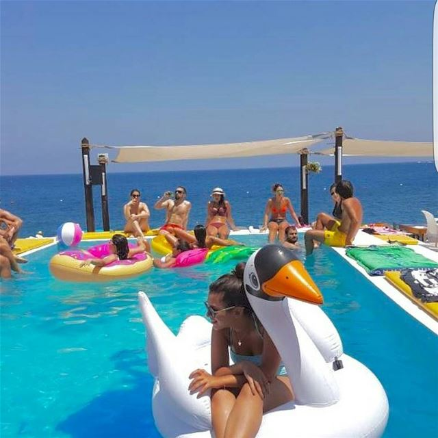 Enjoy your summer @tahetelrih with your floatingraft Whatsapp: +961 78... (Ta7t El Ri7 - Anfeh)