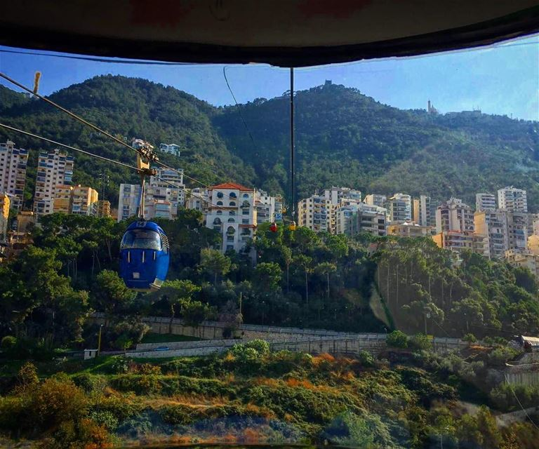 Small trip to harissa 🙏 teleferique harissa lebanon beirut mountains... (Telefrique-Harisa)