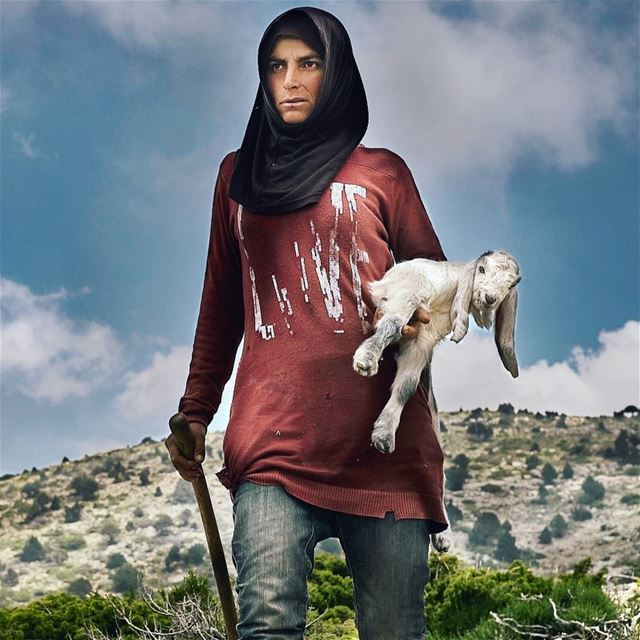 Meet the Toughest shepherdess ever. I've seen many before but never one...