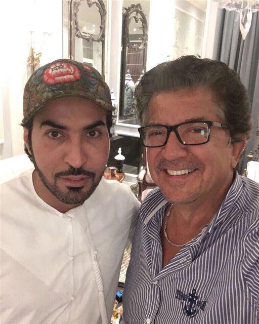 سعدت بلقاء الصديق الشاعر الكبير سيف السويدي وليد_توفيق سيف_السويدي دبي... (Dubai, United Arab Emirates)