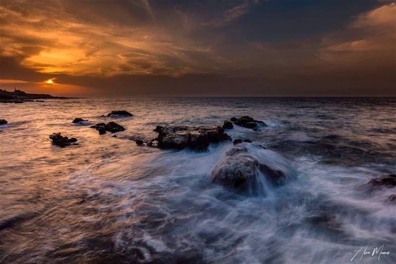 lebanese sunset sea sky Beirut canon phorography landscape canon ...