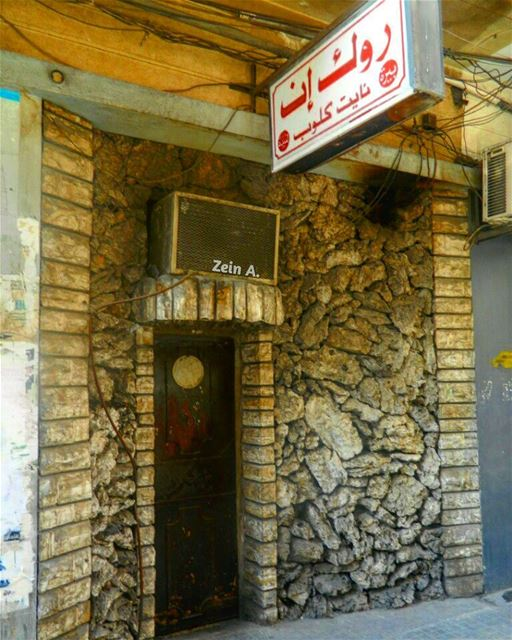 nightclub  club  rock  in  small  door  red  stones  travel  tourism ... (Hamra - حمراء)