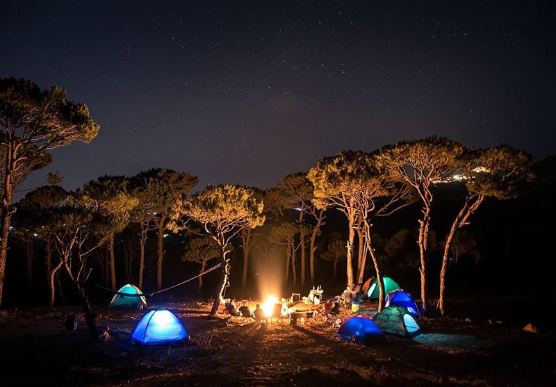 Reconnect with the basics of life 🌳⛺🔥🌳..... camping saturday... (Baskinta, Lebanon)