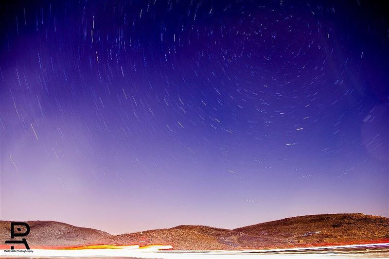 Startrail over Faraya.I spent hours of work on this startrtrail shot,...
