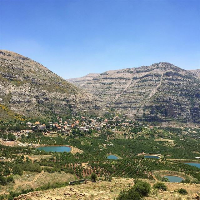 Akoura and its famous water bassins is a perfect place to go for a ... (Akoura, Mont-Liban, Lebanon)
