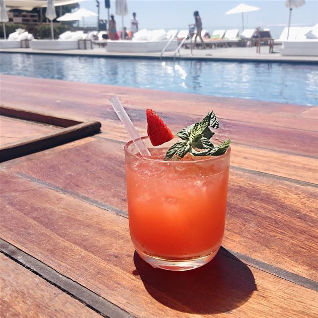 Summer in Lebanon is simply wonderful strawberrymargarita veerlebanon 🍓@ (Lebanon Kaslik Hotel Veer)