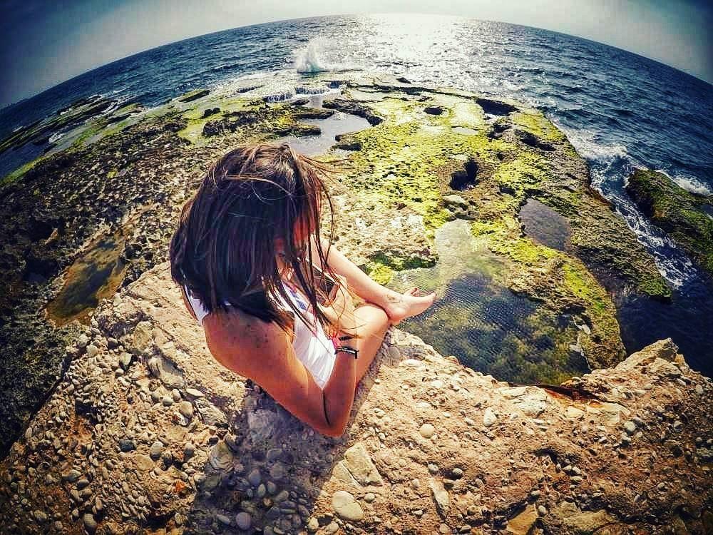 Go with the waves 🌊 sea sky getawayspot livelife postivevibes ... (Kfarabida Batroun)