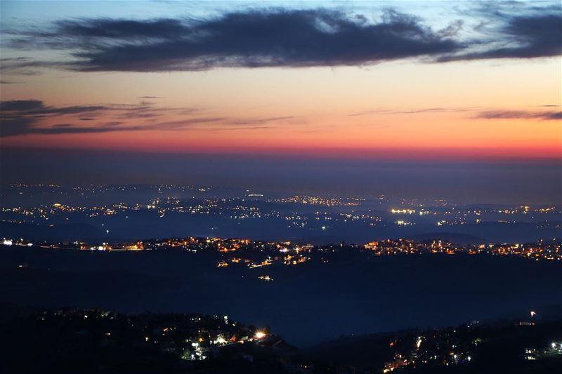 🌅.... sunset sunsetlovers sunsetpics landscape landscapephotography... (Jarjoûaa, Al Janub, Lebanon)