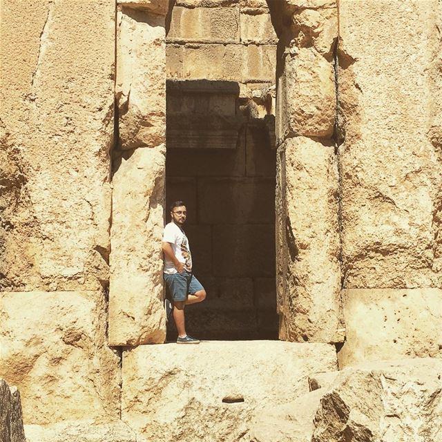 It's in ruins. baalbeck cityofthesun lebanon livelovelebanon ... (Temple of Bacchus)