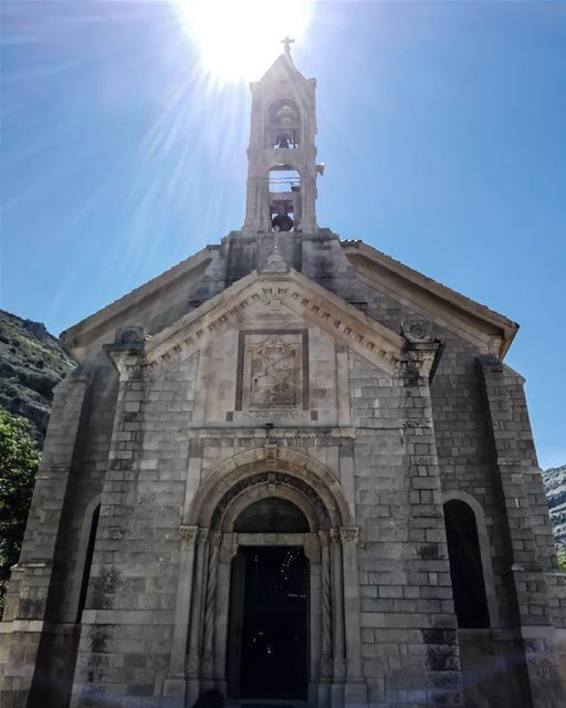 1926 St. Georges Church.... church artsy كنيسة lebanonhouses ... (Akoura, Mont-Liban, Lebanon)